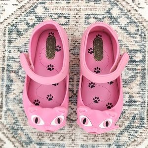 Mini Melissa toddler pink kitty Mary Jane shoes 7